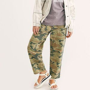 NWT Free People Remy Camo Wide Leg Green Pant